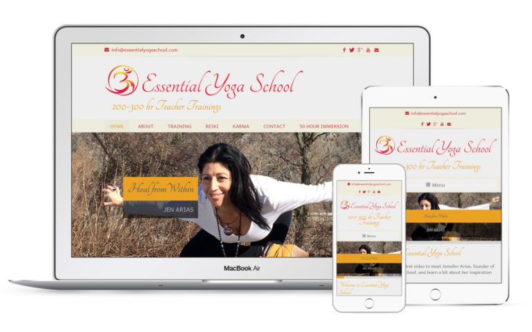 Essential Yoga School Website