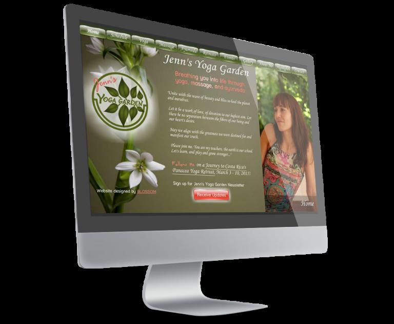 Jenn's Yoga Garden Website
