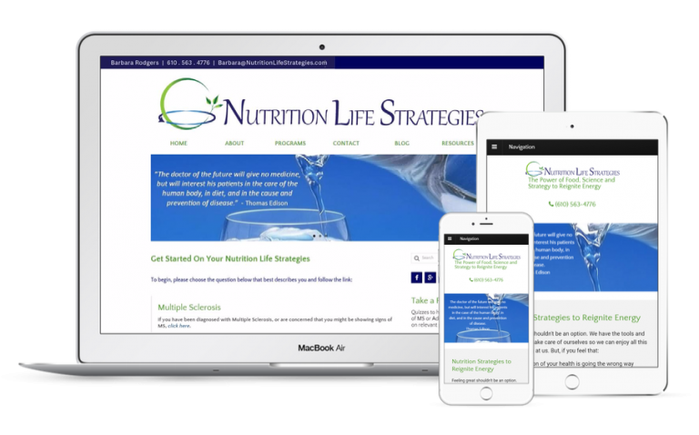 Nutrition Life Strategies Website