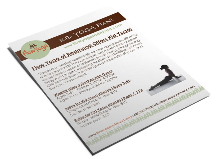 Flow Yoga Flyer