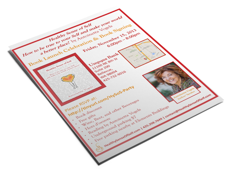 HealthySenseOfSelf Book Launch Flyer
