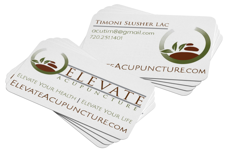 Elevate Acupuncture Business Card