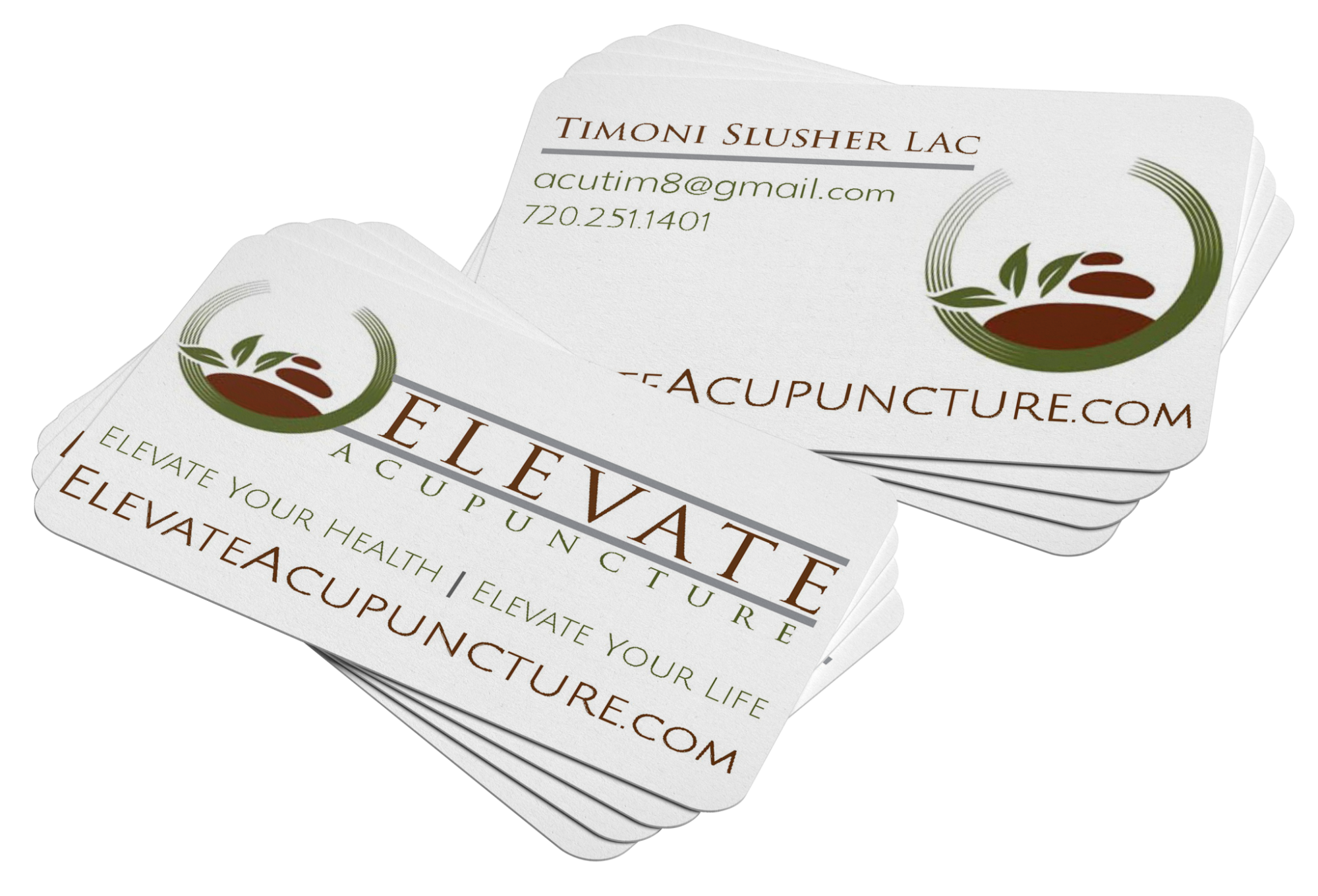 BLOSSOM | Elevate Acupuncture Business Card