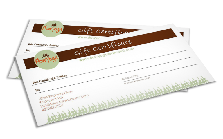 Flow Yoga Gift Certificate