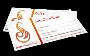 HealthySenseOfSelf Gift Certificates
