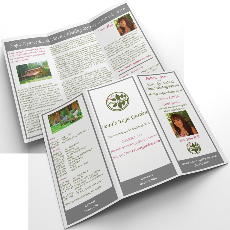 Jenn's Yoga Garden Retreat Brochure