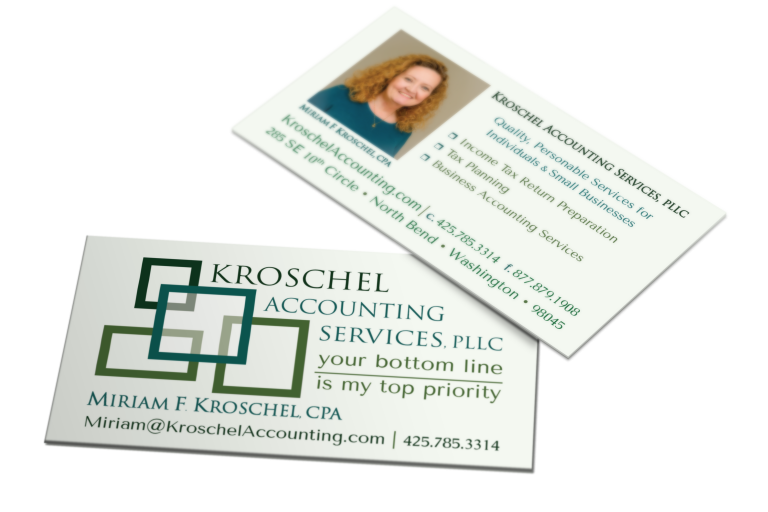 Kroschel Accounting Business Cards