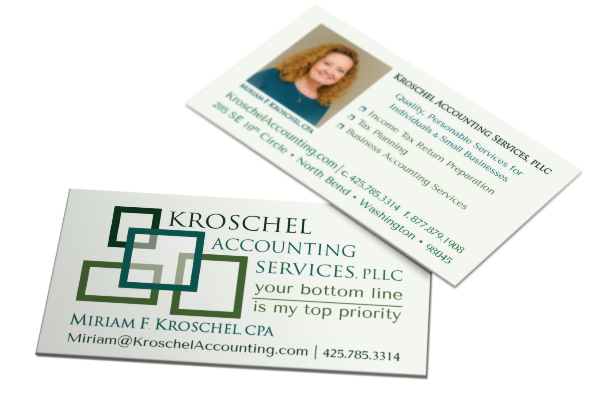 Blossom kroschel accounting business cards kroschel accounting business cards reheart Images