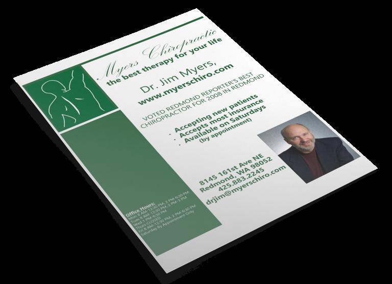 Myers Chiropractic Flyer