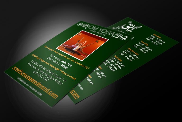 OM Yoga Redmond Postcard