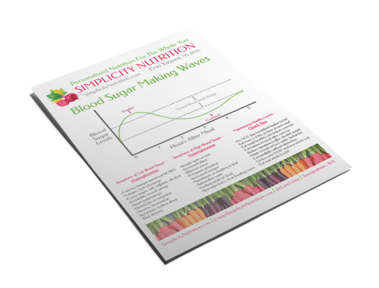 Simplicity Nutrition Graphics Flyer