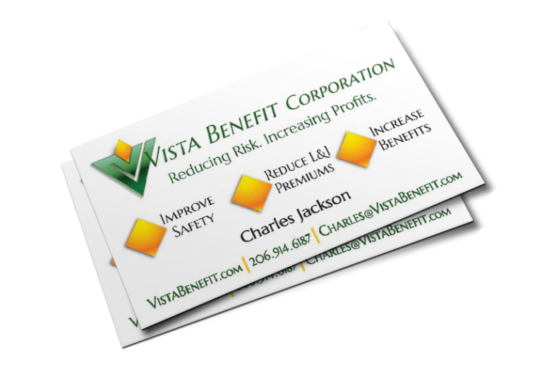 Vista Benefit Business Cards