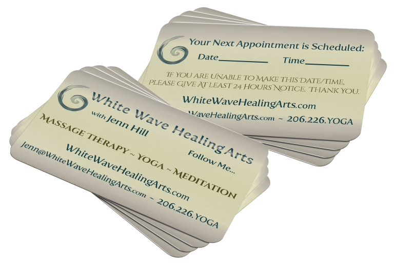 White Wave Healing Arts Business Cards