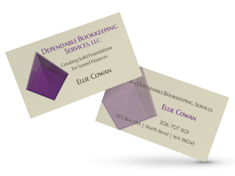 Dependable Bookkeeping Business Cards