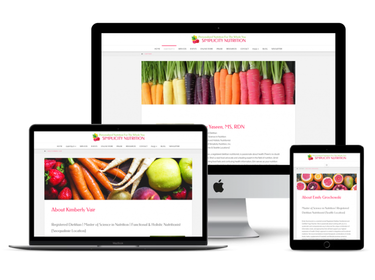 Simplicity Nutrition Website