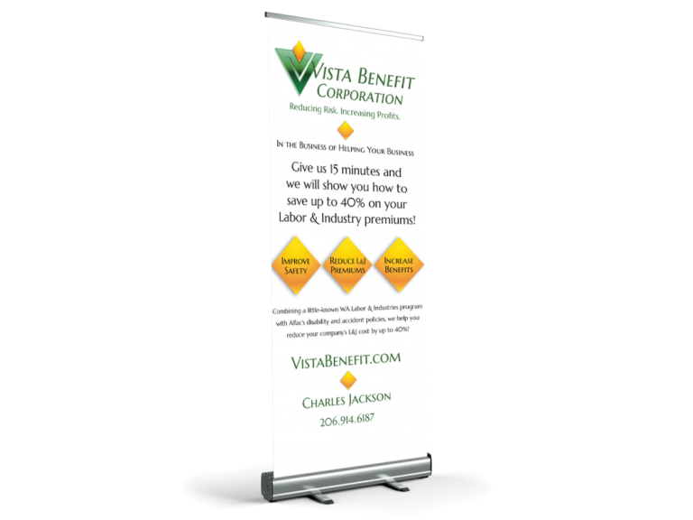 Vista Benefit Retractable Banner
