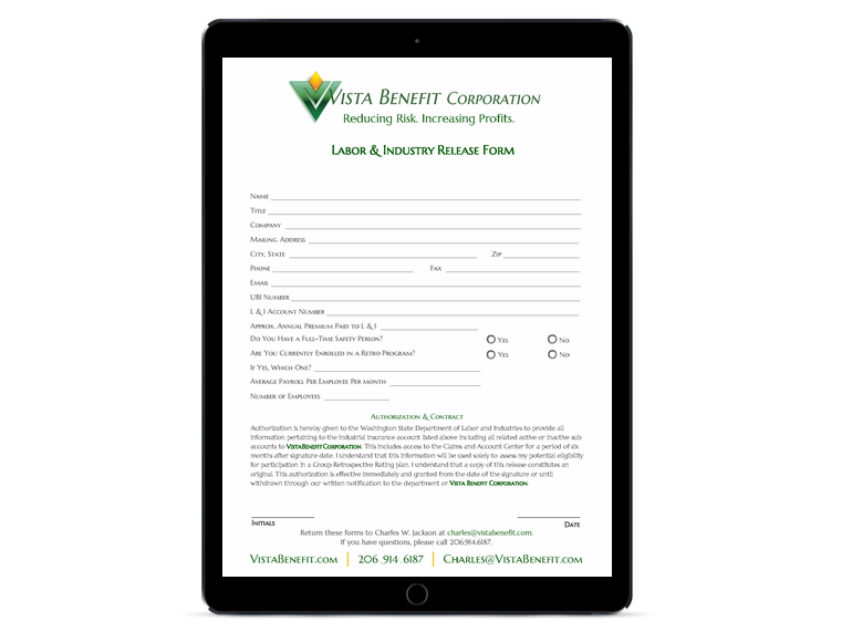 Vista Benefit Interactive Form