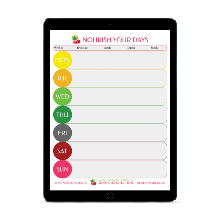 Simplicity Nutrition Digital Meal Plan