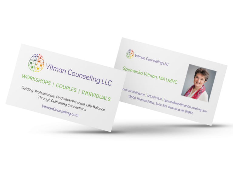 Vitman Counseling Business Cards