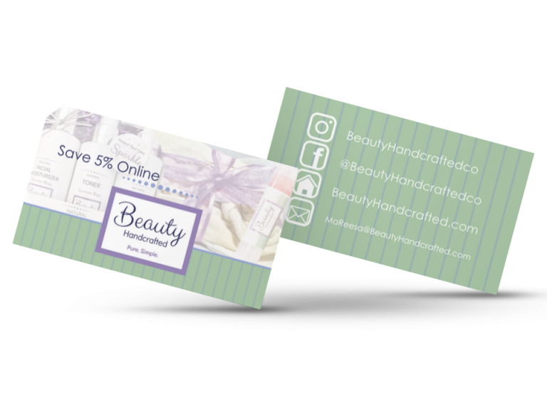 Beauty Handcrafted Marketing Card