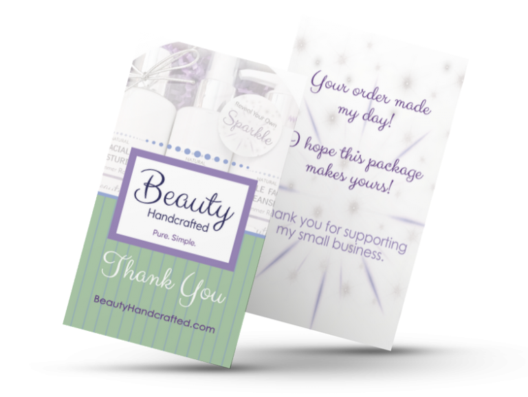 Beauty Handcrafted Product Thank You Card