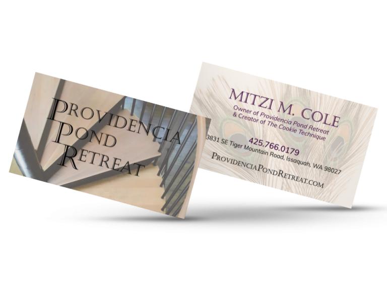 Providencia Pond Retreat Business Card