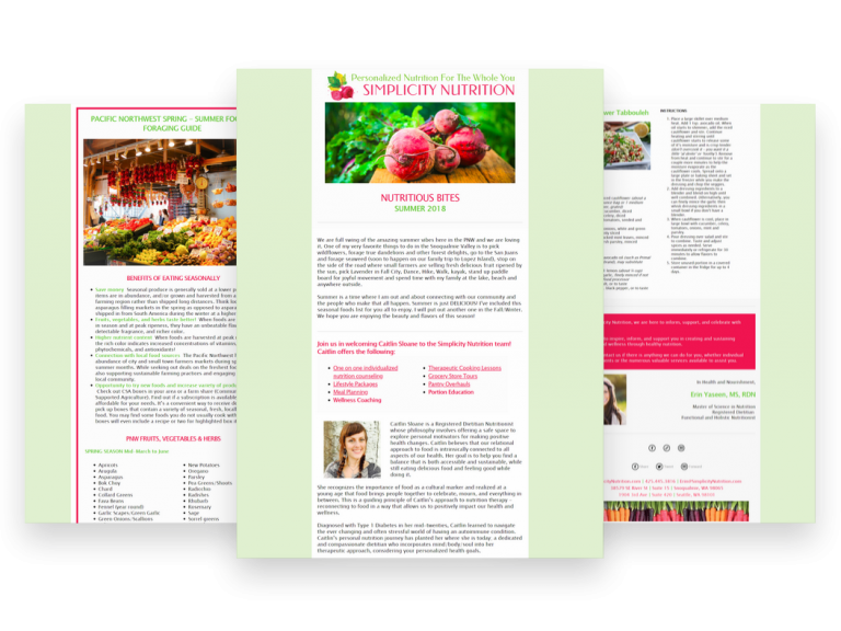 Simplicity Nutrition Newsletter