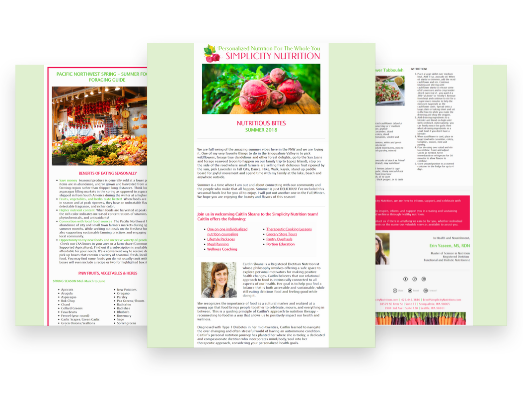 Simplicity Nutrition Newsletter Blossom Dreams By Design